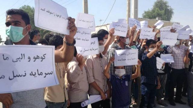 اعتراض به تخریب محیط زیست در شهر کوشکنار در هرمزگان