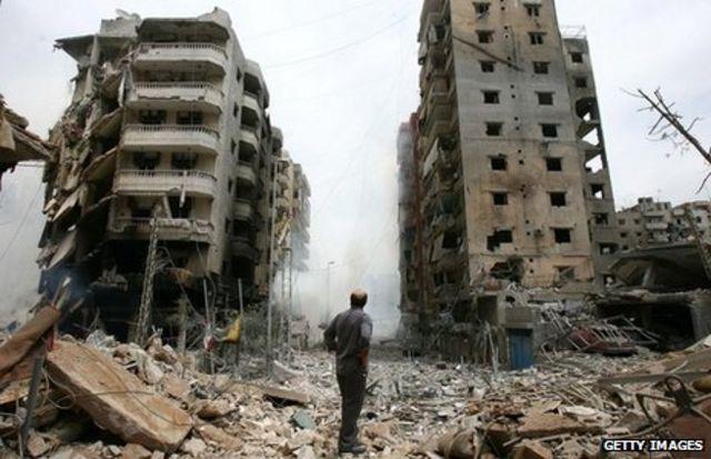 استهدفت إسرائيل مواقع حزب الله في بيروت في حرب 2006