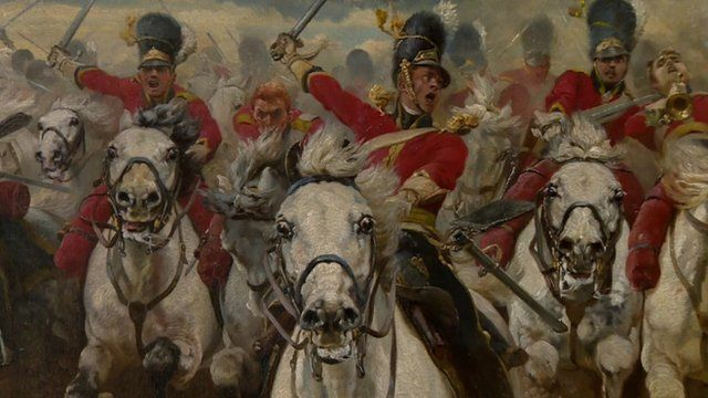 Scotland for Ever by Lady Elizabeth Butler - depicting the Battle of Waterloo