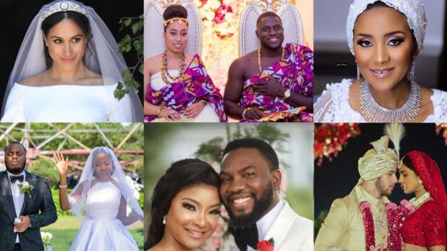 Meghan Markle, Fatima Dangote, Linda Ejiofor, Lala Akindoju, Priyanka Chopra follow for weddings wey shake 2018