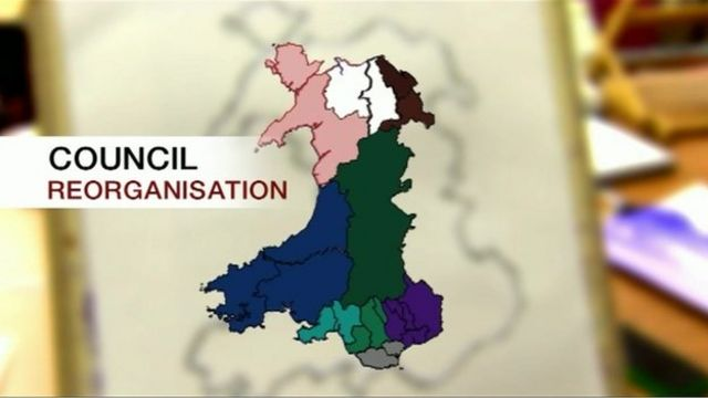 Map of proposed council reorganisation