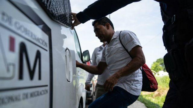 Migrantes en frontera sur