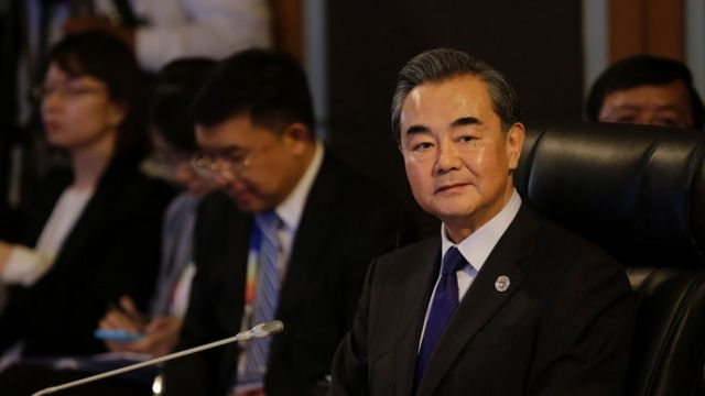 Ngoại trưởng Trung Quốc Vương Nghị tại cuộc họp ở Manila ngày 6/8