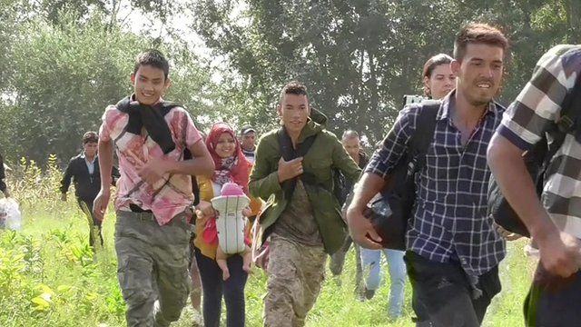 The sprint to the Hungarian border