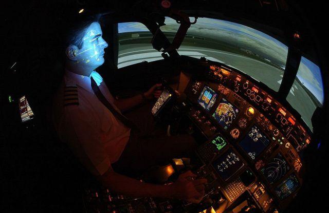 Un piloto en un avión