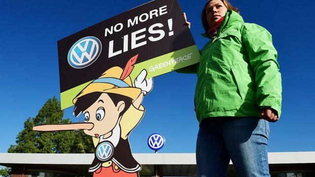 Protesta contra Volkswagen