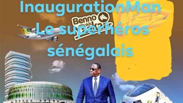 """Certains sénégalais ont affublé le président sortant Macky Sall du surnom d'""""InaugurationMan""""."""