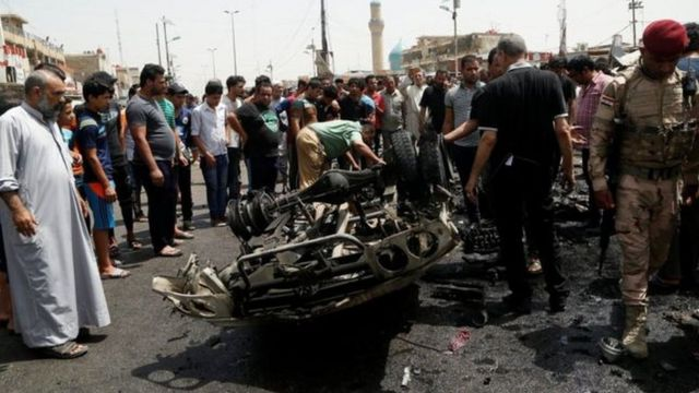 IS militants said they were behind the bombing in the mainly Shia district of Sadr City
