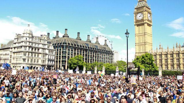 Marcha por Europa en Londres