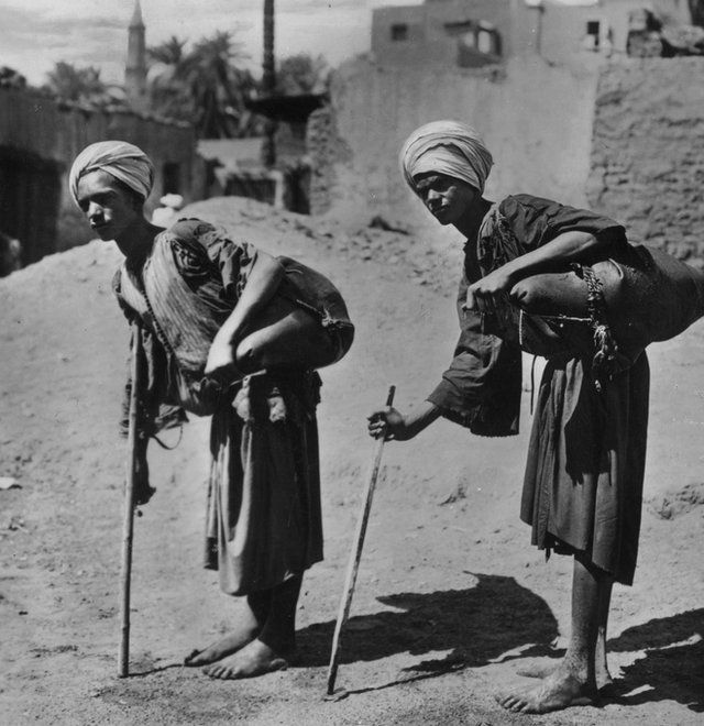 Water sellers in Egypt (circa 1940)
