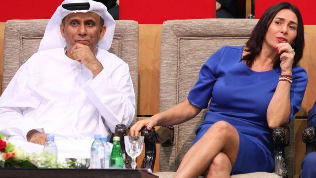 وزيرة الثقافة والرياضة الإسرائيلية ميري ريجيف استضافتها أبوظبي