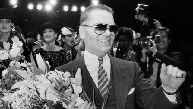 Карл Лагерфельд на показі Chanel, 1984 рік