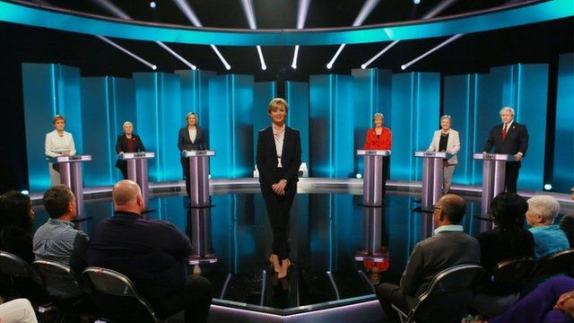 The ITV debate panel