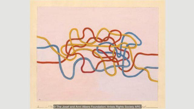 Knot, 1947, adalah contoh karya paling inovatif Albers.
