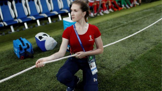 Voluntária russa na Copa do Mundo