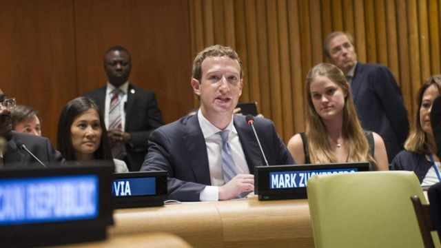 Mark Zuckerberg fala na ONU