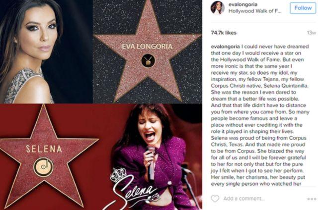 Mensaje de Eva Longoria en Instagram