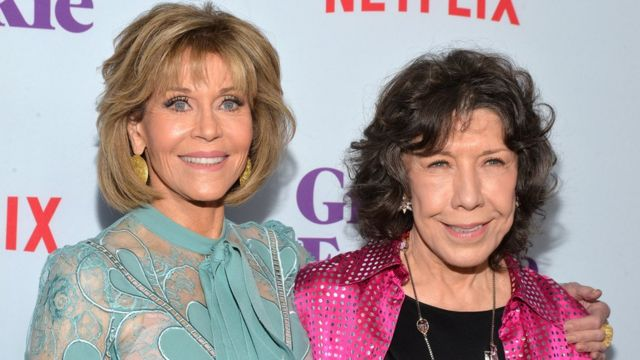 Left to right: Jane Fonda and Lily Tomlin