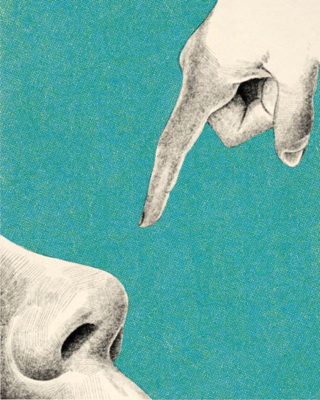雖然用手指的姿勢幾乎是普遍的,但我們選擇用手指的身體部位卻不是