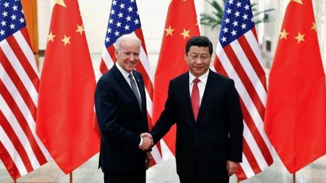 Biden y Xi Jinping en 2013.