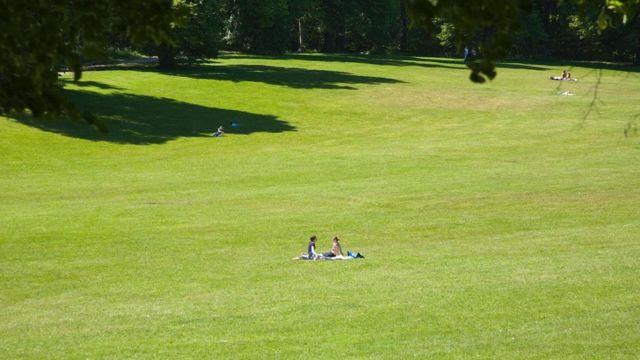 Personas en un parque