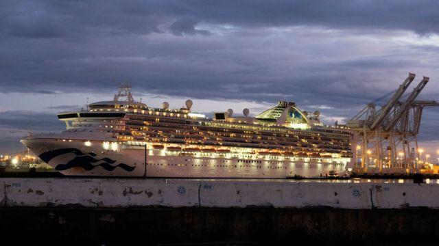 The Grand Princess cruise ship. Passengers on board tested positive for coronavirus