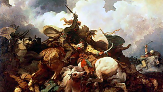 """""""Ричард I Львиное Сердце в Палестине"""", фрагмент картины Филиппа Якоба Лютербурга."""