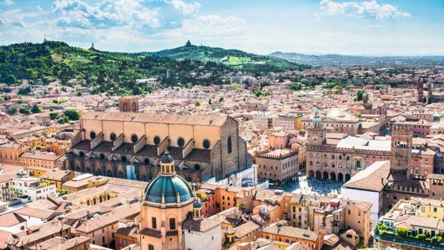 Ciudad italiana de Bolonia