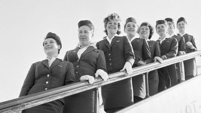 Стюардессы в 1965 году