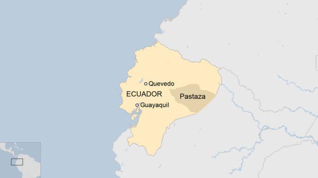 Provincia de Pastaza en Ecuador.