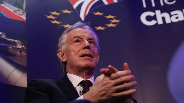 2016年の国民投票でEU残留派として活動したトニー・ブレア元首相は、2度目の国民投票が議会の膠着状態を解消する可能性があると主張する