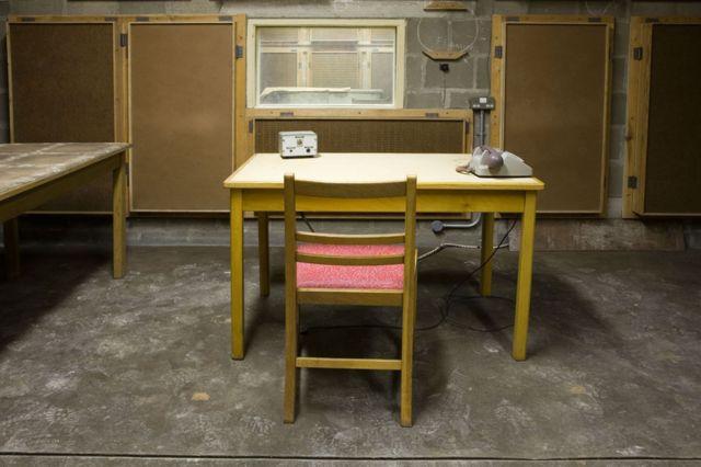 Un estudio de la BBC en el búnker antinuclear de Corsham, Reino Unido.