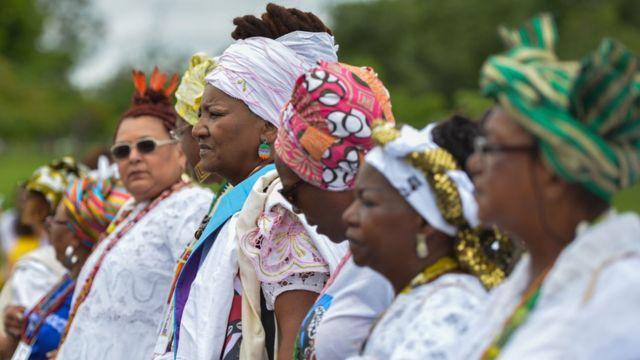 Marcha das Mulheres Negras Contra o Racismo em Brasília, em novembro de 2015