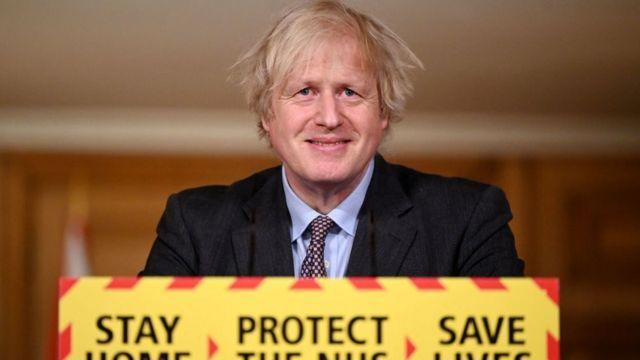 Boris Johnson este lunes 22 de febrero.