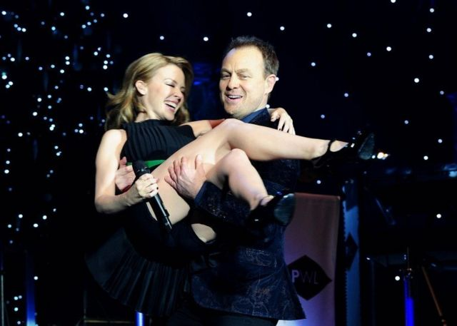Kylie Minogue and Jason Donovan perform during the Hit Factory Live Christmas Cracker concert, at the O2 arena in London on 21 December 2012