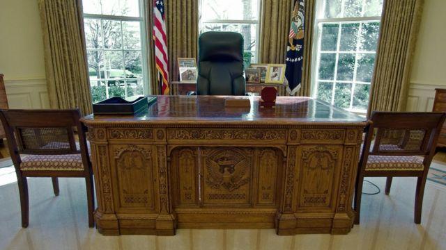 Escritorio en el Despacho Oval en la Casa Blanca