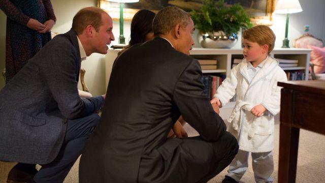 4月の訪英時にウィリアム王子夫妻やジョージ王子に会ったオバマ大統領