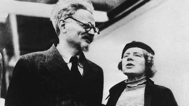 Leon Trotsky và vợ Natalia Sedova