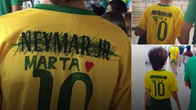 social media post showing football shirt