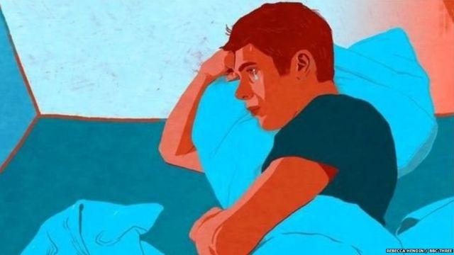 तणावग्रस्त युवकाचं काल्पनिक चित्र