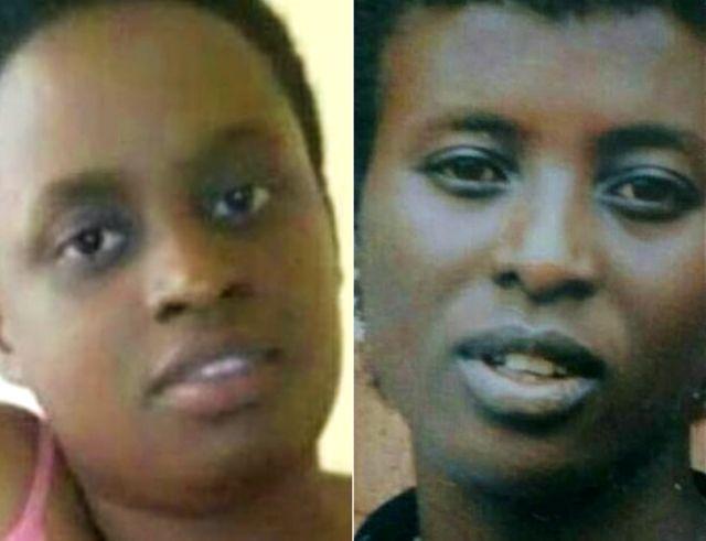 Grace Umutoni (L) et sa mère Liliose Kamukama