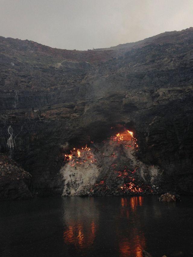Fuego subterráneo en Jharia.