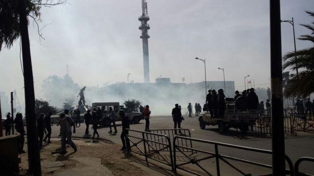 La police sénégalaise a dispersé avec du gaz lacrymogène une manifestation de l'opposition à Dakar