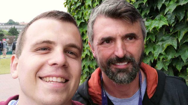 Ivanišević i Slobodan Maričić, novinar BBC-ja na srpskom