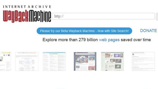 wayback machine
