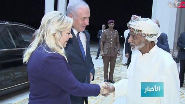 بحرین کے سلطان قابوس اور اسرائیل کے وزیر اعظم بن یامین نیتن یاہو