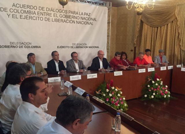 Anuncio del inicio de los diálogos hecho en Caracas