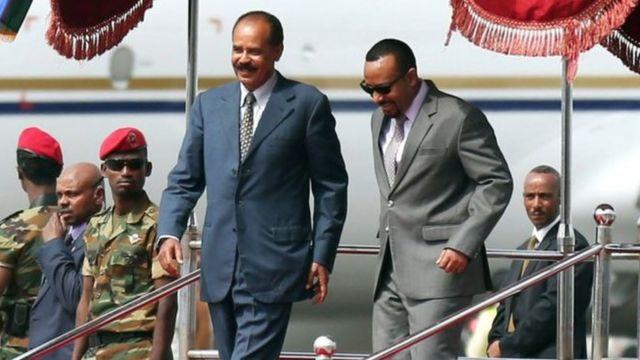 Bwana Afwerki aliwasili nchini Ethiopia siku ya Jumamosi -ikiwa ziara yake ya kwanza nchini humo baada ya miongo miwili
