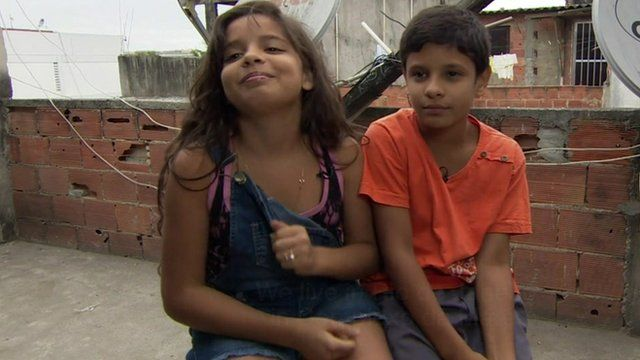Two children living in a Rio favela