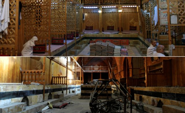 Turkish baths before and after